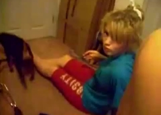 Young cutie is trying to seduce her dog